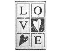Colop Love Vintage Rubber Stamps (V01022)