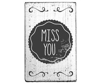 Colop Miss You Vintage Rubber Stamps (V01045)