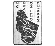 Colop We Are Getting Married Vintage Rubber Stamps (V01014)
