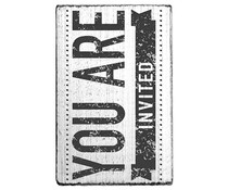 Colop You Are Invited Vintage Rubber Stamps (V01020)