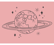 Colop Globe Rose M&B Rubber Stamps (MB0051)