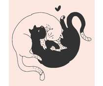 Colop Cats Nude M&B Rubber Stamps (MB0056)