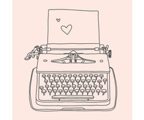 Colop Typewriter Nude M&B Rubber Stamps (MB0006)