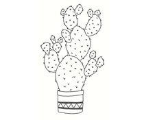 Colop Cactus White M&B Rubber Stamps (MB0012)