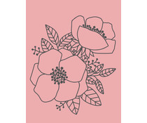 Colop Blossoms Rose M&B Rubber Stamps (MB0020)