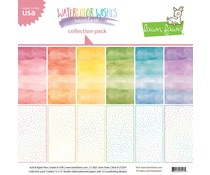 Lawn Fawn Watercolor Wishes Rainbow 12x12 Inch Collection Pack (LF2591)