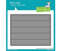 Lawn Fawn Simple Stripes: Landscape Dies (LF2621)