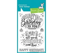 Lawn Fawn Giant Birthday Messages Clear Stamps (LF2599)