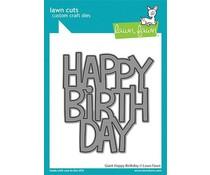 Lawn Fawn Giant Happy Birthday Dies (LF2612)