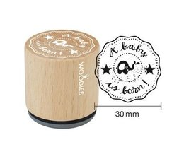 Woodies A baby is born Rubber Stamp (WE6006)