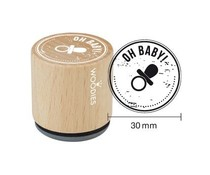 Woodies Oh Baby Rubber Stamp (WE6004)