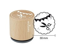 Woodies Scissors Rubber Stamp (W26008)