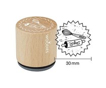 Woodies Whisk Rubber Stamp (W26003)