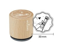 Woodies Scroll Rubber Stamp (W17001)