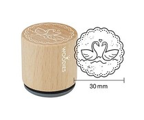 Woodies Swans Rubber Stamp (W18003)