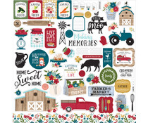Echo Park Farmer's Market 12x12 Inch Element Sticker (FM248014)