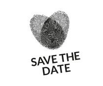 Nio Save The Date Forensic Heart Standard Design (NI2008)