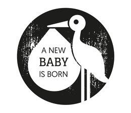 Nio A New Baby Is Born Stork Standard Design (NI2005)