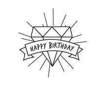 Nio Happy Birthday Diamond Standard Design (NI2036)