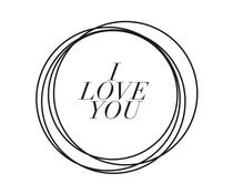 Nio I Love You Circles Standard Design (NI2013)
