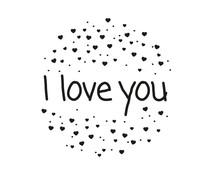 Nio I Love You Heart Sparkles Standard Design (NI2015)