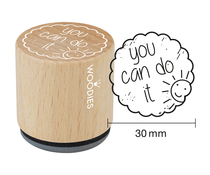 Woodies You can do it Rubber Stamp (WE1309)