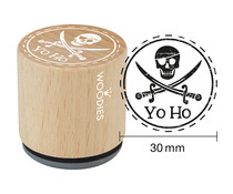 Woodies Yo Ho Rubber Stamp (WE1403)