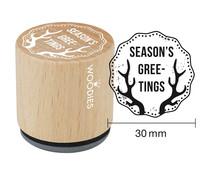Woodies Season's Greetings Rubber Stamp (WE7010)