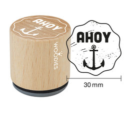 Woodies Ahoi Rubber Stamp (W10001)