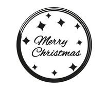 Nio Merry Christmas Glamour Badge Standard Design (NI2019)