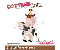 Scrapping Cottage Stacked Farm Animals (CC-901)