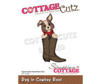 Scrapping Cottage Dog in Cowboy Boot (CC-894)