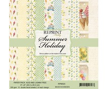 Reprint Summer Holiday Collection 8x8 Inch Paper Pack (RPM020)