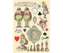 Stamperia Wooden Shapes A5 Alice Chessboard (KLSP104)