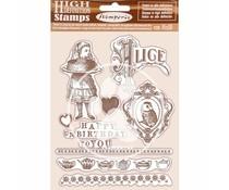 Stamperia Natural Rubber Stamp Alice Happy Birthday (WTKCC203)