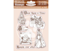 Stamperia Natural Rubber Stamp Sleeping Beauty Once Upon a Time (WTKCC201)