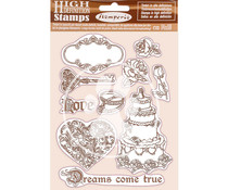 Stamperia Natural Rubber Stamp Sleeping Beauty Dreams Came True (WTKCC202)