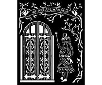 Stamperia Thick Stencil 20x25cm Alice Door (KSTD091)