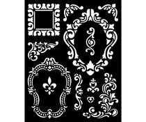 Stamperia Thick Stencil 20x25cm Alice Frames (KSTD092)