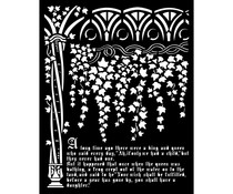 Stamperia Thick Stencil 20x25cm Sleeping Beauty Ivy and History (KSTD077)