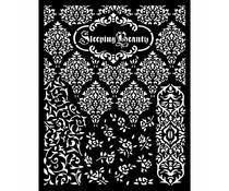 Stamperia Thick Stencil 20x25cm Sleeping Beauty Textures (KSTD079)