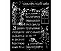 Stamperia Thick Stencil 20x25cm Sleeping Beauty Windows (KSTD078)