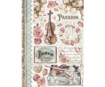 Stamperia Rice Paper A4 Passion Music (6 pcs) (DFSA4621)