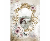 Stamperia Rice Paper A4 Romantic Horses Lake (6 pcs) (DFSA4582)