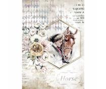 Stamperia Rice Paper A4 Romantic Horses Lady Frame (6 pcs) (DFSA4580)
