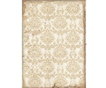 Stamperia Rice Paper A4 Sleeping Beauty Wallpaper Gold (6 pcs) (DFSA4578)