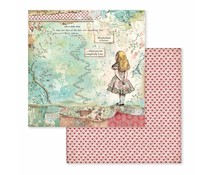 Stamperia Alice 12x12 Inch Paper Sheets (10pcs) (SBB582)