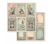 Stamperia Alice 6 Cards 12x12 Inch Paper Sheets (10pcs) (SBB584)