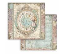 Stamperia Alice Clock 12x12 Inch Paper Sheets (10pcs) (SBB815)