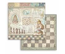 Stamperia Alice Queen Alice 12x12 Inch Paper Sheets (10pcs) (SBB816)